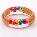 זול סט תכשיטים-בגדי ריקוד נשים שרף צמידים שקוף פרח מסוגנן טבע סגנון חמוד שרף צמיד תכשיטים כתום עבור חתונה Party מתנה