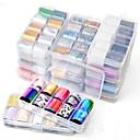 billige Foliepapir-hnuix 10 farger nail art star transfer paper varmt salg regnbuehimmel japansk stil neglfolie klistremerke neglelakk klistremerke
