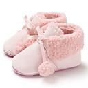 זול סנדלים לילדים-בנות צעדים ראשונים קנבס מגפיים תינוקות (0-9m) / פעוט (9m-4ys) שחור / אפור / ורוד חורף
