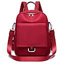 povoljno Školske torbe-Velika zapremnina Najlon Patent-zatvarač ruksak Jedna barva Škola Crn / Lila-roza / Žutomrk / Jesen zima