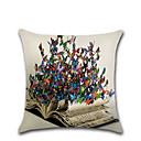 halpa Seinämaalaukset-1 kpl Pellava Tyynynpäälinen, 3D Print Eläin Perinteinen Muoti Heittää tyyny