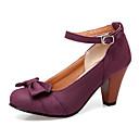 זול נעלי עקב לנשים-בגדי ריקוד נשים עקבים עקב גביע PU סתיו / אביב קיץ שחור / אפור / סגול / מסיבה וערב