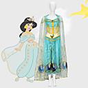 povoljno Movie & TV Theme Costumes-Aladdin Princess Jasmine Cosplay Nošnje Filmski Cosplay Mesh Mini ja Plava Top Hlače Shawl Dječji dan Maškare Til / Bez rukava