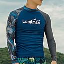 halpa Märkäpuvut, sukelluspuvut ja suoja-asut-LCDRMSY Miesten Rash guard -suojapaita Rash guard -suojapaita Uimapaita Pidä lämpimänä UV-aurinkosuojaus Nopea kuivuminen Pitkähihainen Uinti Vesiurheilu Patchwork Kesä / Erittäin elastinen