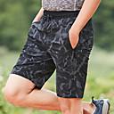 זול בגדי ריצה-בגדי ריקוד גברים # שורט לריצה שורט מפוצל לריצה מכנסיים קצרים נושם אוורור ייבוש מהיר צבע הסוואה / מיקרו-אלסטי