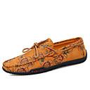 hesapli Erkek Düz Ayakkabıları ve Makosenleri-Erkek Ayakkabı Tüylü / Kanvas Yaz Günlük Mokasen & Bağcıksız Ayakkabılar Yürüyüş Günlük / Dış mekan için Sarı / Kırmzı / Mavi
