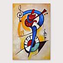 זול ציורים מופשטים-ציור שמן צבוע-Hang מצויר ביד - מופשט מודרני כלול מסגרת פנימית