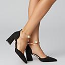 זול מגפי נשים-בגדי ריקוד נשים עקבים פנינים עור / PU בלרינה בייסיק קיץ בז' / בורדו / ורד מאובק / EU39