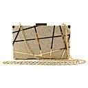 billige Clutch- og aftenvesker-Dame Uthult Legering Aftenveske Geometrisk mønster Svart / Champagne / Gull