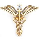 olcso Divatos melltűk-Férfi Melltűk Szobor Angyal szárnyak Stílusos Európai Bross Ékszerek Arany Ezüst Kompatibilitás Napi
