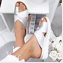 hesapli Kadın Sandaletleri-Kadın's Sandaletler Düz Taban Yuvarlak Uçlu PU Yaz Siyah / Yeşil / Leopar