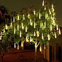זול רצועות נורות LED-4 חבילות 50 m 16ft אורות גשם מקלחת 540 led אורות גשם מטאורים נופלים למסיבת חג ליל כל הקדושים קישוט עץ חג המולד עמיד למים