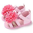 זול סנדלים לילדים-בנות צעדים ראשונים PU סנדלים תינוקות (0-9m) / פעוט (9m-4ys) זהב / לבן / ורוד קיץ