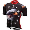 """זול חולצות רכיבת אופניים-21Grams אמריקאי / ארה""""ב Eagle דגל לאומי בגדי ריקוד גברים שרוולים קצרים חולצת ג'רסי לרכיבה - אדום + כחול אופניים צמרות נושם פתילת לחות ייבוש מהיר ספורט טרילן רכיבת הרים רכיבת כביש ביגוד / מיקרו-אלסטי"""