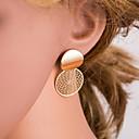 hesapli Moda Küpeler-Kadın's Altın Vidali Küpeler Değerli Basit Avrupa moda Moda Büyük Boy Küpeler Mücevher Altın Uyumluluk Günlük 1 çift