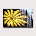 hesapli Soyut Resimler-Hang-Boyalı Yağlıboya Resim El-Boyalı - Soyut Çiçek / Botanik Modern Iç çerçeve olmadan