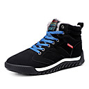 זול נעלי ספורט לגברים-בגדי ריקוד גברים נעלי נוחות סוויד חורף ספורטיבי / יום יומי מגפיים הליכה שמור על חום הגוף שחור / ירוק / כחול