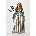 hesapli Moda Bileklikler-Kadın's Zarif Çan Elbise - Zıt Renkli Maksi