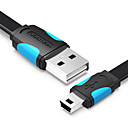 Недорогие USB кабели-VENTION VAS-A14-B150 USB 2.0 к Mini USB Male - Male 1.5M (5Ft) PVC