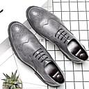 povoljno Muške oksfordice-Muškarci Udobne cipele Mikrovlakana Ljeto Oksfordice Prozračnost Crn / Braon / Sive boje