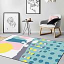 halpa matot-Area mattoja Moderni Polyesteria, Neliskulmainen Huippulaatua Matto