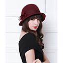 povoljno Kentucky Derby Hat-100% vuna kape / Šeširi / Šešir s Kapa / Cvjetni print / Trim 1 Zabava / večer Glava