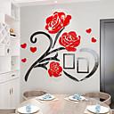 Недорогие Стикеры на стену-Декоративные наклейки на стены - 3D наклейки Цветочные мотивы / ботанический Гостиная / В помещении