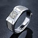 billige Herreringer-Herre Åpne Ring / Justerbar ring 1pc Sølv Kobber / Sølvplett Geometrisk Form Enkel / Mote Daglig / Arbeid Kostyme smykker