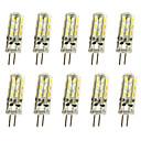 povoljno Smart Lights-jiawen 10pcs 1w 120lm g4 led bi-pin svjetla kukuruzna žarulja 24led smd 3014 ukrasna luster svjetiljka topla bijela / hladno bijela ac / dc 12v