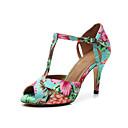 hesapli Latin Dans Ayakkabıları-Kadın's Dans Ayakkabıları Suni Deri Latin Dans Ayakkabıları Toka Topuklular İnce Topuk Kişiselleştirilmiş Gökküşağı / Performans / Egzersiz