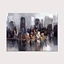povoljno Apstraktno slikarstvo-Hang oslikana uljanim bojama Ručno oslikana - Sažetak Pejzaž Moderna Bez unutrašnje Frame