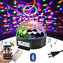hesapli Sahne Işıkları-Loende 9 renk led bluetooth hoparlör disko topu ışık mp3 çalar ile balo lazer parti ışık 18 w dj sahne ışık lazer projeksiyon lambası