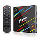 povoljno TV tuneri-h96 max plus smart tv box android 9.0 rk3328 4k media player quadcore 4gb ram 64gb rom android 8.1 rockchip set top box 2.4g / 5g wifi h.265 h96max + tvbox usb3.0 bt