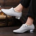 povoljno Obuća za dvoranski ples i moderne plesove-Muškarci Plesne cipele Eko koža Cipele za latino plesove Ravne cipele Ravna potpetica Srebro