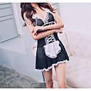 povoljno Seksi kostimi-Uniforma sluškinje Žene Čipka / Mašna / Mrežica Sexy Babydoll / slip haljina Noćno rublje Color block Crn One-Size / Cosplay nošnje