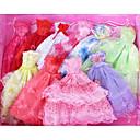 povoljno Dodaci za lutku-Haljina za lutke Haljine Za Barbie Šupalj Cvjetni / Botanički Čipka Saten / til Poly / Cotton Haljina Za Djevojka je Doll igračkama
