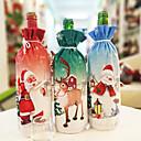 זול כלי שתייה-בקבוק יין אדום יצירתי חג המולד סט ארוחת ערב חג המולד סנטה קלאוס איש שלג צבי בקבוק כיסוי בגדים שקית מתנה לחג המולד
