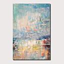 povoljno Slike za cvjetnim/biljnim motivima-Hang oslikana uljanim bojama Ručno oslikana - Sažetak Pejzaž Comtemporary Moderna Uključi Unutarnji okvir