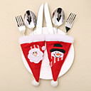 お買い得  クリスマスデコレーション-2ピースクリスマス帽子ナイフとフォークバッグスーツ/休日の装飾新年