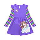 povoljno Haljine za djevojčice-Djeca Djevojčice Crtani film Haljina purpurna boja