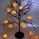 זול חוט נורות לד-1,5 m halloween pumpa stränglampor med 10 led batteridrivna halloween dekorationer inomhus utomhus för fest bröllop uteplats gård varm vit 1 set