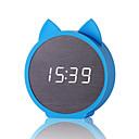 זול שעונים מעוררים-שעון מעורר לד / דיגיטלי עץ / גוּמִי LED 1 pcs