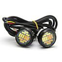 """זול Car Signal Lights-10 יחידות מנורת עין נשר 23 מ""""מ 12 smd צבעים כפולים צהוב לבן drl בשעות היום אורות ריצה מקור אור מנורת אות פנייה 12 v"""