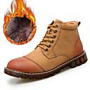 baratos Oxfords Masculinos-Homens Sapatos de couro Pele Inverno Clássico / Casual Botas Caminhada Manter Quente Botas Curtas / Ankle Preto / Marron / Cinzento