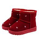 זול מגפיים לילדים-בנות מגפי שלג מיקרופייבר / PU מגפיים ילדים קטנים (4-7) / ילדים גדולים (7 שנים +) שחור / אדום סתיו / חורף