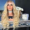 Недорогие Парики из натуральных волос на кружевной основе-Парики из искусственных волос Естественные кудри Стиль Средняя часть Машинное плетение Парик Золотистый Отбеливатель Blonde Искусственные волосы 26 дюймовый Жен. Женский Золотистый Парик Длинные