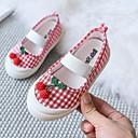 זול סנדלים לילדים-בנות צעדים ראשונים קנבס שטוחות ילדים קטנים (4-7) לבן / אדום סתיו