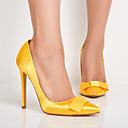 povoljno Ženske cipele s petom-Žene Cipele na petu Stiletto potpetica Krakova Toe Mašnica Saten Proljeće & Jesen Bijela