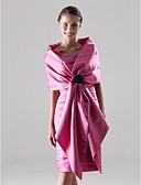 Χαμηλού Κόστους Φορέματα για τη Μητέρα της Νύφης-Ίσια Γραμμή Λουριά Μέχρι το γόνατο Σατέν Φόρεμα Μητέρας της Νύφης με με / Εσάρπα περιλαμβάνεται