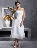 povoljno Vjenčanice-A-kroj Bez naramenica Do sredine lista Organza Vjenčanica s Čipka po LAN TING BRIDE®